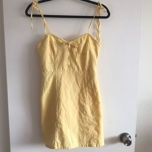 Yellow strappy dress